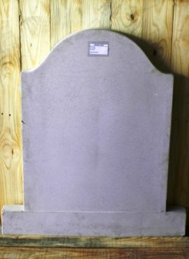 vibracrete tombstone plain with rounded top
